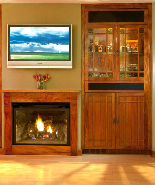 Custom cabinetry woodwork design design against the grain for Mission style entertainment center plans