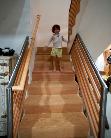 Sandblasted Stairs Custom Cabinetry Woodwork Amp Design