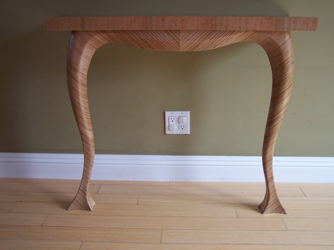 Plywood Console Table ~ Scrap plywood console table custom cabinetry woodwork