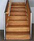 Custom Made Sandblasted Wood Staircase Front View