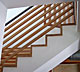 Custom Made Sandblasted Wood Staircase Side View 1