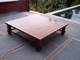 Custom Made IPE Coffee Table Corner View