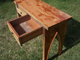 Custom Made Recycled Lumber Furniture Drawer Open