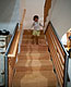 Sandblasted Wood Staircase
