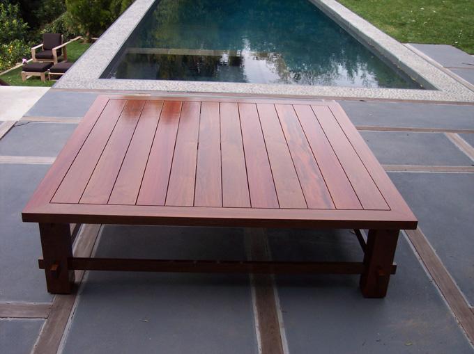 Incroyable Custom Made IPE Coffee Table Birds Eye View